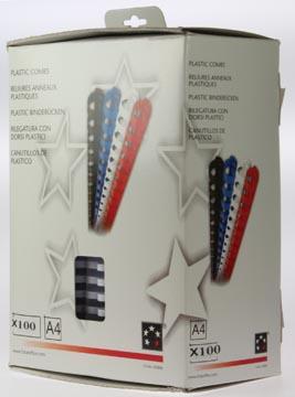 Plastic bindringen 5STAR 20 mm wit doos van 100