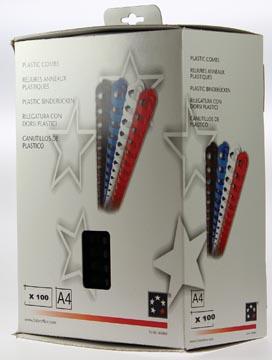Plastic bindringen 5STAR 20 mm zwart doos van 100