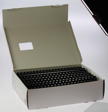 Plastic bindringen 5STAR 22 mm zwart doos van 50