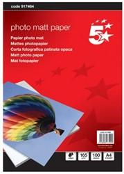 5Star  Mat fotopapier 165 gram pak van 100 blad
