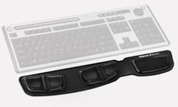 Fellowes Heatlh-V Crystal toetsenbord polssteun, zwart