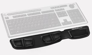 Fellowes Heatlh-V Crystal toetsenbord polssteun zwart