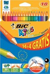 Bic Kids Evolution Ecolutions kleurpotloden, etui 14 + 4 gratis