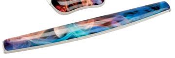 Fellowes Photo Gel toetsenbord polssteun, ontwerp regenboog rook