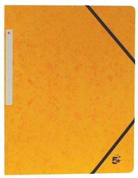 5Star Elastomap met kleppen geel