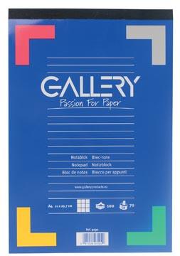 Gallery schrijfblok A4 geruit 100 vel kopgeniet