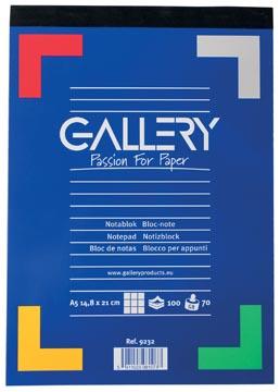 Gallery schrijfblok A5 geruit 100 vel