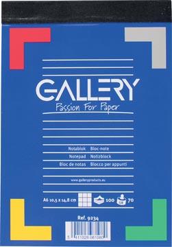 Gallery schrijfblok A6 geruit