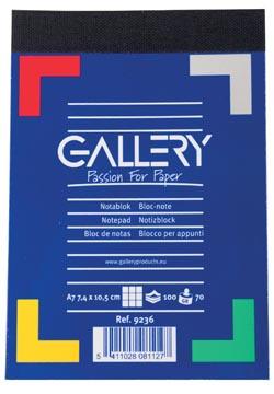 Gallery schrijfblok A7 geruit