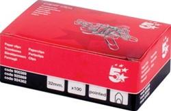 5Star paperclip 32mm gepunt ds/100 stuks