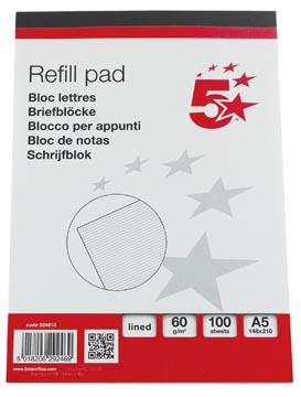 5Star schrijfblok ft 14,8 x 21 cm (A5), gelijnd