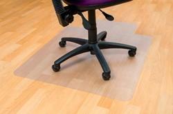 Vloerbeschermer 115x134cm voor harde vloeren met uitsparing 63,5x30,5cm