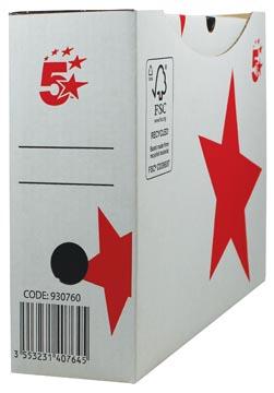5STAR archiefdoos 25x33x10 cm, wit, automatische montage