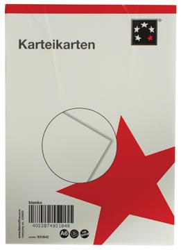 5Star Systeemkaarten ft A6, blanco