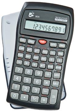 5Star Wetenschappelijke rekenmachine 90X 136 wetenschappelijke functies. 10 + 2-cijferig groot 2-rege...