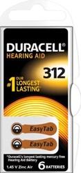 Duracell hoortoestelbatterijen DA312, blister van 6 stuks