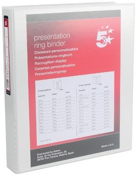Presentatie ringband 4 rings 25mm wit