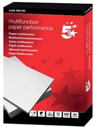 A4 papier 75 g hagelwit 5Star Performance pak 500vel