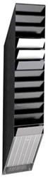 Wandfolderhouder A4 12 vak zwart