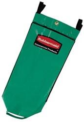 Rubbermaid Reinigingswagen driedubbele capaciteit vinyl recyclagezak, groen