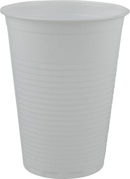 Drinkbeker uit polystyreen voor koude dranken 180 ml wit pak van 100 stuks