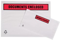 Zelfklevend documentenmapje ft A4, documents enclosed, doos van 500 stuks