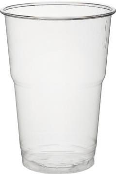 Drinkbeker uit PET voor koude dranken 250 ml transparant pak van 50 stuks