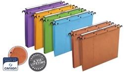 L'Oblique hangmappen voor laden AZO tussenafstand 380 mm, V-bodem, oranje