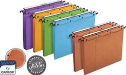 L'Oblique hangmappen voor laden AZO tussenafstand 380 mm, bodem 30 mm, oranje