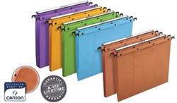 L'Oblique hangmappen voor laden AZO tussenafstand 390 mm (foolscape), bodem 30 mm, oranje