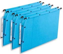 L'oblique hangmappen voor kasten AZV V-bodem, blauw