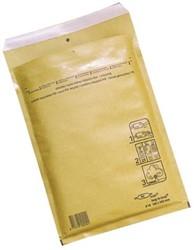Luchtkussen enveloppen A6 100 x 165 mm bruin met plakstrip ds/200 stuks