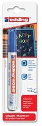 Edding Krijtmarker e-4095 blauw, op blister