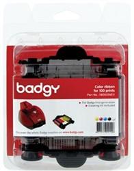 Badgy toebehoren voor badgeprinter Kleurenlint 100 x afdrukken  Voor Badgy 1