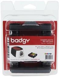 Pakket 1 x kleurenlint & 100 blanco kaarten (0,76 mm) voo r Badgy 100 of Badgy 200