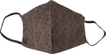 Wasbaar mondmasker, green kites motief, maat: heren, pak van 5 stuks