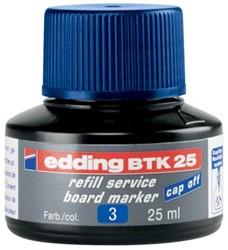 Edding Navulinkt witbordstiften 25 ml, blauw