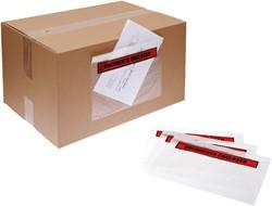 Cleverpack paklijstenvelopelop C6 110x165 onbedrukt pk/100