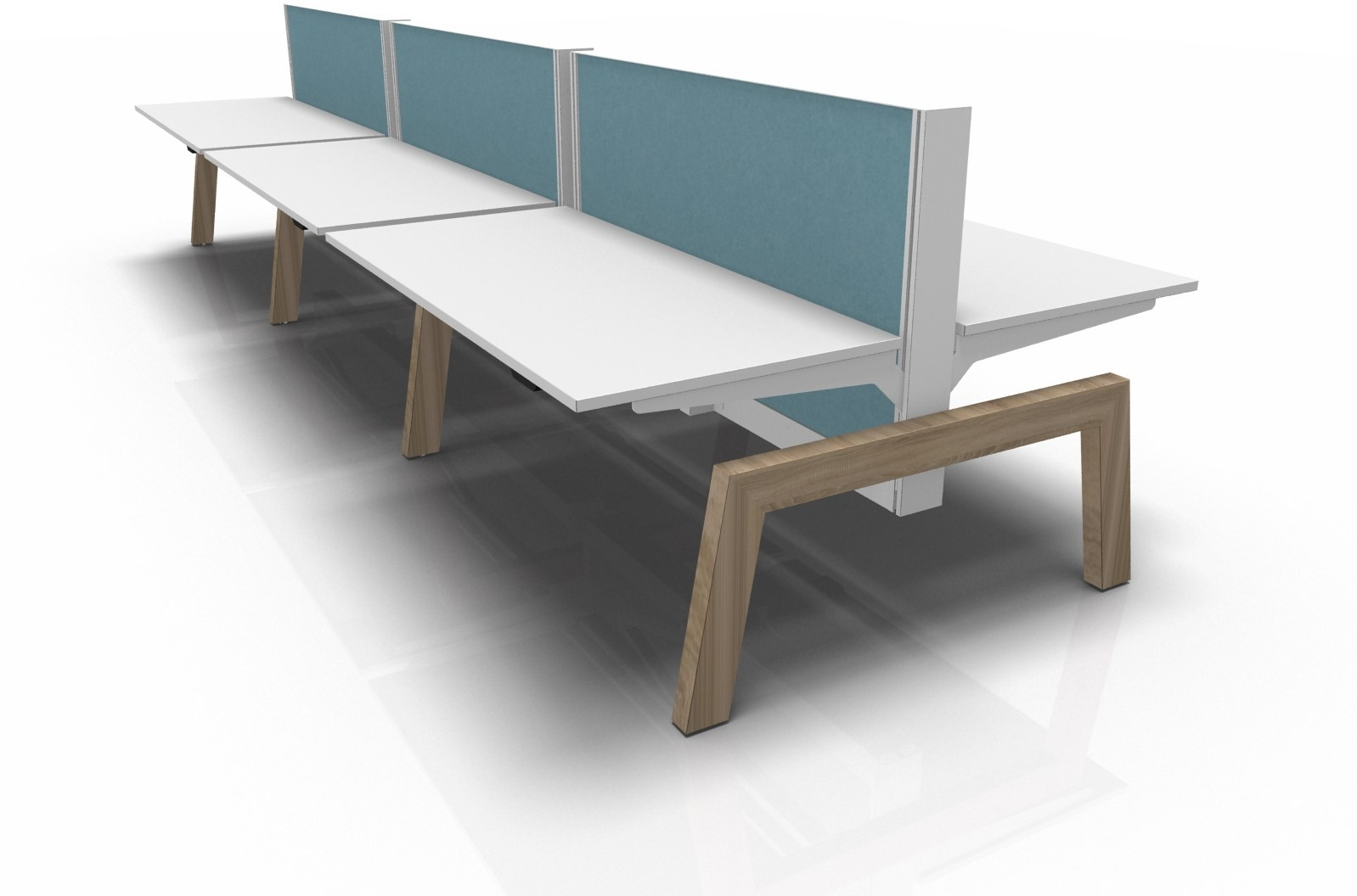 Terrific Markant Max Hybrid Bench Bureau 4 Werkplekken 160X80Cm Bralicious Painted Fabric Chair Ideas Braliciousco