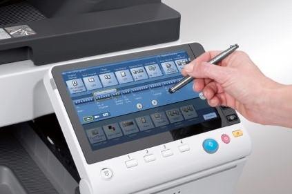 Bizhub C258 touch screen