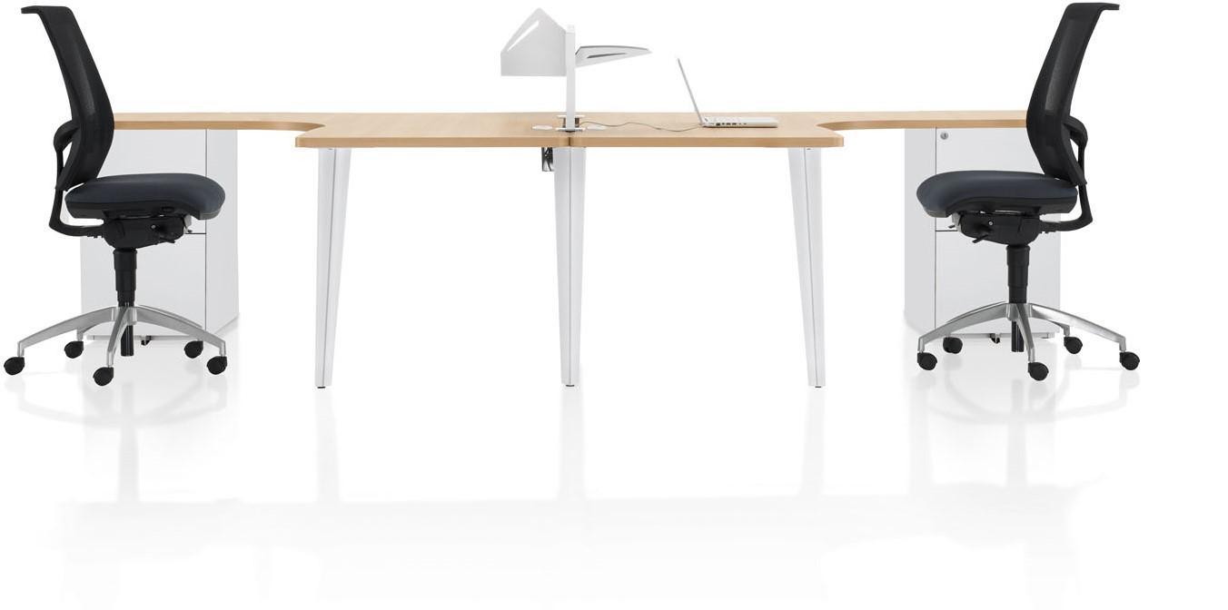 kantoorbureau 4line met designpoten en extra dik blad bij. Black Bedroom Furniture Sets. Home Design Ideas
