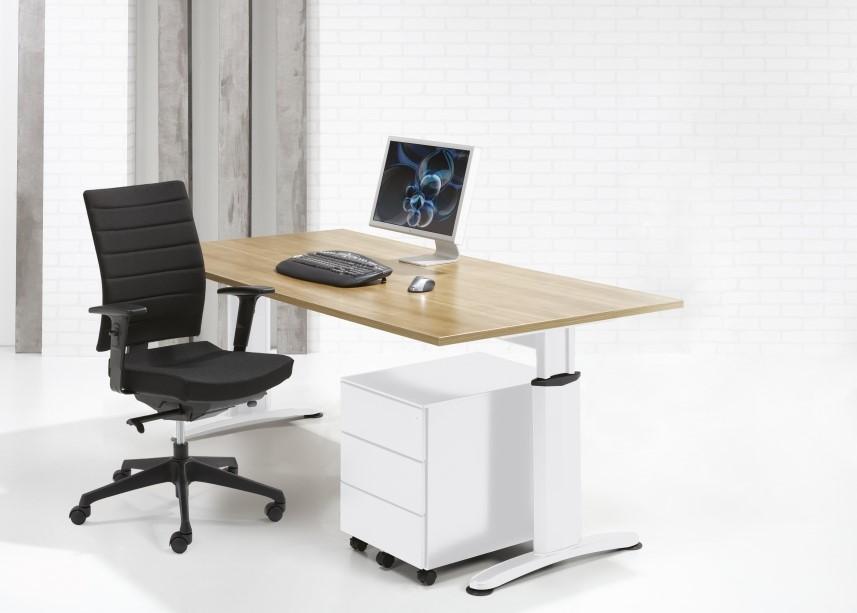 Kantoor bureau 120x60cm proline style wit beuken bij pro office