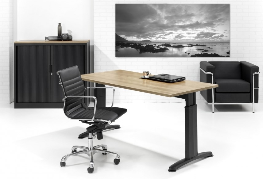 T poot bureau proline style zwart licht eiken bij pro office