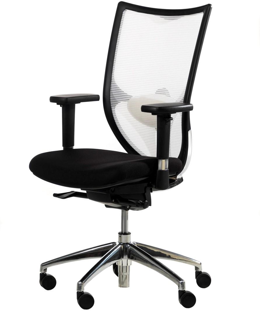 Bureaustoel Wit Goedkoop.Ergonomische Bureaustoel Proline Impression Mesh Wit Npr Zwart Bij