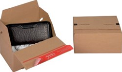 Colompac Eurobox Size S, binnenformaat 195 x 145 x 90 mm, bruin