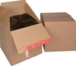 Colompac Eurobox Size L, binnenformaat 394 x 394 x 384 mm, bruin