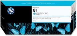 HP 81 cartridge C4934A licht cyaan inhoud 680 ml