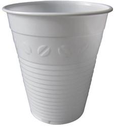 Automaatbeker uit polystyreen voor warme dranken, 150 ml, wit, pak van 100 stuks