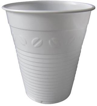 Automaatbeker uit polystyreen voor warme dranken 150 ml wit pak van 100 stuks