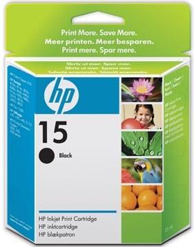HP Printkop cartridge zwart 15 - 500 pagina's - C6615DE inhoud